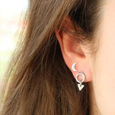 Create your own trendy pair of earrings or just shop in our ready-made collection of trendy earrings! Moon earring.