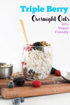 These Triple Berry Overnight Oats are the perfect quick breakfast, and are packed with protein, fiber, and flavor! Go crazy on the toppings and be amazed at how tasty these are.