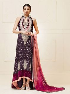 Picture of Purple mehsuri dress