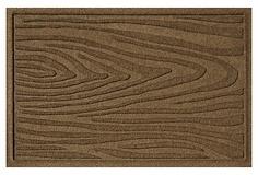 "1'11"" x 3' Woodgrain Mat, Dark Brown on OneKingsLane.com"