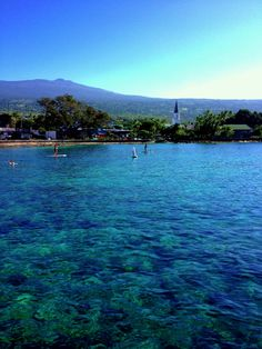 Gorgeous photo of Kailua Bay and the village! | From King Kamehameha's Kona Beach Hotel on Facebook