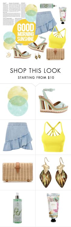 """""""Good Morning Sunshine!"""" by romaosorno ❤ liked on Polyvore featuring Anja, Topshop, LE3NO, J.Crew, Alexis Bittar, Woods of Windsor and David Jones"""