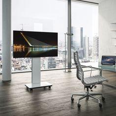 tray soporte para tv de pie moderno de vidrio by spectral audio mobel gmbh archiexpo