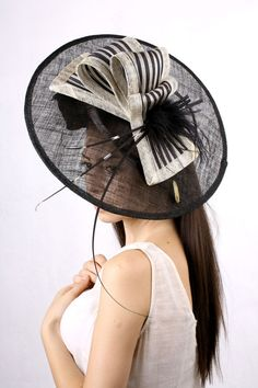 Stunning derby fascinator, Melbourne cup hat, Royal Ascot hat, Kentucky derby hat, tea party hat, couture millinery fascinator,Haute couture