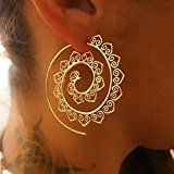 Amazon Mode Honel Mode Ohrringe Spirale Ohrschmuck Frauen Ohrhänger Ohrstecker Stammes Ethnische Ohrringe ,Gold: Ein gutes Geschenk…%#mode%