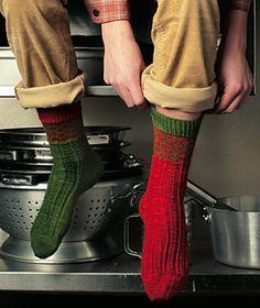 Fred & George Socks - free pattern on Ravelry