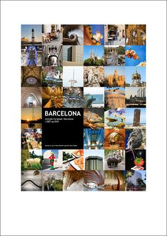 "Our Barcelona poster (50x75 cm./approx. 20x30""). An attempt at getting some of our snapshots from this beautiful city up on the wall."