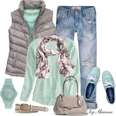 Seafoam green, created by shauna-rogers on Polyvore