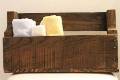 HalfSize Stained Pallet Shelf by iwantthatcrafts on Etsy, $20.00