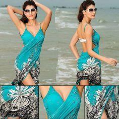 3a688dbda7 Women Bathing Swimsuit Bikini Swimwear Wrap Pareo Cover Up Beach Dress  Sarong Ebay Swimwear