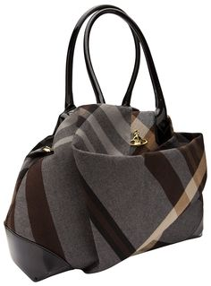 Vivienne Westwood Winter Tartan Bag in Gray (grey)