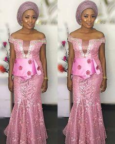 aso ebi style African Wear, African Attire, African Dress, African Evening Dresses, African Fashion Dresses, Native Wears, Aso Ebi Styles, Ankara Styles, Wedding Guest Looks