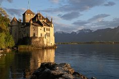 Château de Chillon, Switzerland (by FriskaCiska) (All things Europe) Rest Of The World, Places Around The World, Around The Worlds, Wonderful Places, Beautiful Places, Amazing Places, Switzerland Vacation, Abandoned Houses, Beautiful Landscapes