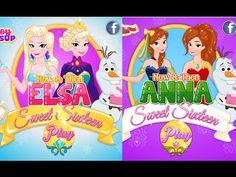 Juegos de Frozen: Ahora y Entonces Elsa e Anna Sweet Sixteen