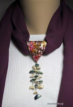 Marlene Brady: Polymer Bail - Scarf Jewelry