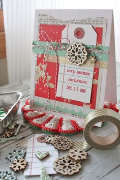Mish Mash: Project December....altering wood embellishments