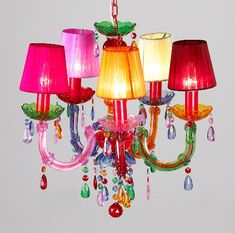 Small Shaded Gypsy Chandelier, Delicious Deco (Lighthing Chandelier Table Lamp Wall Lamp)