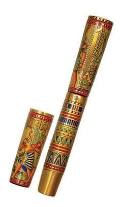How amazingly beautiful is THIS. Krone Tutankhamen Fountain Pen.