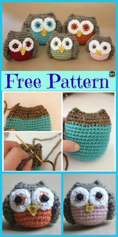 Crochet Amigurumi Owl – Free DIY Instructions : The small crochet animals come in multiple patterns. They look cute and put you in a good mood – wh… – Amigurumi Model listing Crochet Giraffe Pattern, Owl Crochet Patterns, Crochet Owls, Crochet Unicorn, Easter Crochet, Crochet Gifts, Amigurumi Patterns, Cute Crochet, Crochet Designs