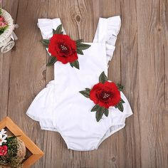 New Arrival Baby Girl Embroidery Rose Backless Romper Item specifics Brand Name:WCL Material:Cotton Gender:Baby Girls Sleeve Length(cm):Sleeveless Closure Type:Covered Button Pattern Type:Floral Material Compositio Baby Girl Romper, Cute Baby Girl, Baby Girl Newborn, Baby Girls, Baby Boy, Baby Girl Items, Baby Jumper, Baby Bodysuit, Toddler Girl