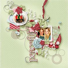 """LOTW December 30 - wanda, Peaceful layout created with Jen C. Designs """"Christmas Wishes"""""""