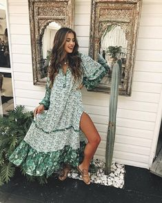 ccd344e35a Spell And The Gypsy Collective Winona Green Dress For Women Green Beach  Dresses