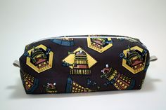 Boxy Makeup Bag - Dalek Themed Doctor Who Zipper - Pencil Pouch  for $10 +s&h by JustPeachyHandmade on Etsy