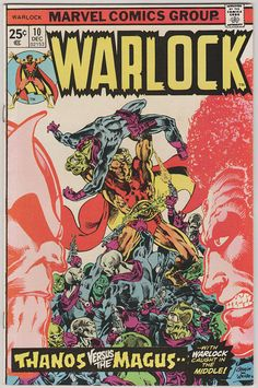Warlock V1 10 Signed by Jim Starlin. VF. by RubbersuitStudios #warlock #thanos #jimstarlin