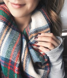 Fresh mani cozy blanket scarf all the (online) Black Friday shopping. || Nail color is OPI 'Scores a Goal! ' http://liketk.it/2pHi8 @liketoknow.it #liketkit