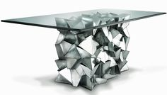 Delaunay dining table- a unique architectural piece.