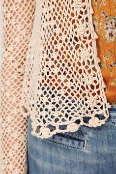 Outstanding Crochet: Freee people. Little summer jacket, look at that!!