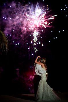 Florida Keys Wedding, Wedding fireworks, Wedding firework exit, Coconut Cove Resort, Islamorada Wedding. Fireworks display in the Florida Keys by Keys Fireworks at Coconut Cove Resort & Marina. Photography by Magda Bates www.coconutcove.net