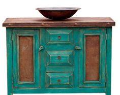 Custom Bathroom Vanities - Turquoise