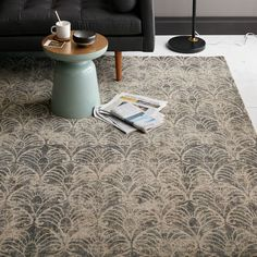 Rugs – Home Decor :     Fans Printed Wool Rug   west elm    -Read More –   - #Rugs https://decorobject.com/decorative-objects/rugs/rugs-home-decor-fans-printed-wool-rug-west-elm/