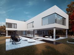 Black is a project created by STUDIO.O. organic design. The project consists of a set of exterior and interior renderings created by Michal Nowak.