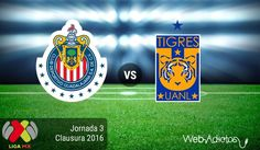 Chivas vs Tigres, Fecha 3 del Clausura 2016 ¡En vivo por internet! - http://webadictos.com/2016/01/24/chivas-vs-tigres-clausura-2016/?utm_source=PN&utm_medium=Pinterest&utm_campaign=PN%2Bposts