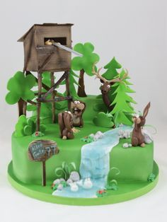 Jäger Hunt Cake Torte Bunny Hase Hochstand - Hobbies paining body for kids and adult Nature Cake, Hunting Cabin Decor, Fish Cake Birthday, Fondant, Pear Cake, Boy Decor, Cakes For Men, Party Cakes, Hunting Cakes