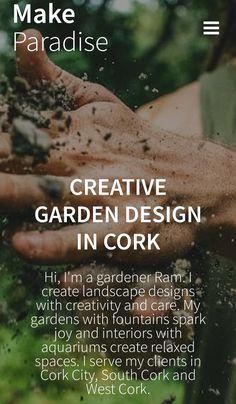 Inquiry about your creative garden design Landscape Design, Garden Design, Cork City, Creativity, Relax, Gardens, Space, Create, Interior