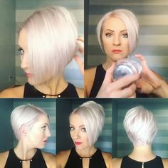 Basic style for this cut in a few simple steps. 1. Blown dry with the @kaaral_italia Pink Up Cristal Care and a 9 row @denmanbrush. Let the hair fall to my natural part. 2. Flat ironed with a @chihaircare iron. Quick swipes not letting the iron stay on the hair too long. 3. Tease at the roots. 4. Small dollop of the @kenraprofessional Texturizing Taffy ( love this stuff) to piece out the hair. 5. Finished with the @kenraprofessional Volume Spray 25. #shorthairtutorialmonday #emilyanders...