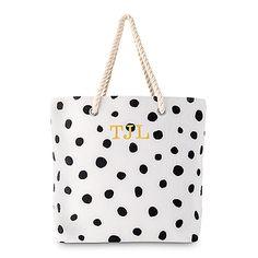 Dalmatian Dot Tote - Black on White
