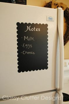 great memo board for fridge, could be used on a wall ...