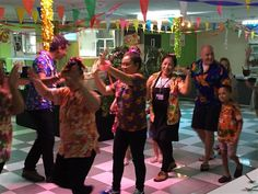 Yes sir - he can boogie. Our Principal joins in our Songkran fun along with our Catering Manager and staff at our wonderful Songkran celebration meal - April 2017