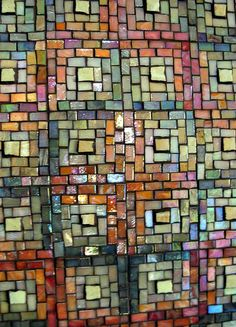 Log Cabin Panel Mosaic by Margaret Almon   Flickr - Photo Sharing!