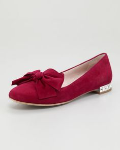 Jewel-Heel Suede Loafer by Miu Miu at Neiman Marcus.