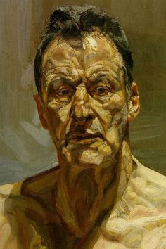 Lucian Freud - large splotchy brush stroke.. fleshy... not beautiful but fascinating to look at