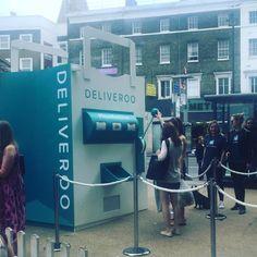 Deliveroo surprise pop up in Clapham yesterday. #pr #experiential #deliveroo…