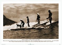 """""""Girls As Well As Men Enjoy The Sport"""" Paradise of the Pacific photo, circa 1918  #surfing"""