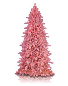 If I had to get a fake tree, it would have to be in a really fake color. flocked pink christmas tree from Treetopia.