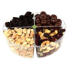 Premium Gourmet Nuts & Dried Fruits Gift Basket, Assorted Tray Fresh and Roasted >>> See this great product.