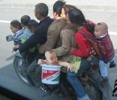 You should see how many can fit in a Honda Civic!!